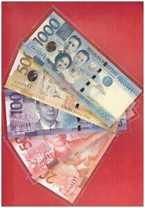 111111 PHILIPPINES 20 50 100 500 1000 peso NGC Aquino Solid No. 5 pcs 111111 UNC