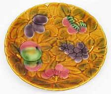 Sarreguemines MAJOLIKA Teller Platte mit buntem Obst - France
