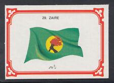 Monty Gum 1980 Flags Cards - Card No 29 - Zaire  (T638)