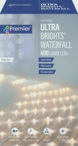 400 LED Multi-Action UltraBrights Christmas Waterfall Lights Timer - WARM WHITE