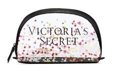 VICTORIA'S SECRET SPARKLE SEQUIN CLEAR MAKEUP COSMETIC CASE BEAUTY BAG ORGANIZER
