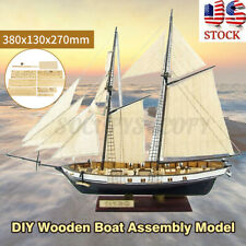 New ListingDiy 1:130 Scale Wooden Sailboat Ship Kits Home Model Decoration Boat Toy