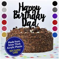 Happy Birthday Dad Daddy Grandad Personalised CAKE TOPPER Custom Cake Decoration