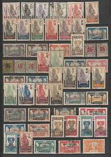 Gabon colonie Française  lot  de  timbres  oblitérés  cote  de 160 euro