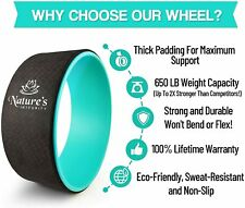 """Nature's Integrity Yoga Wheel 13"""" Elite Series: Stretching, Back Pain, Backbends"""