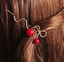 Barrette Épingle A Cheveux Dorée Cerise