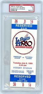 1980 All-Star Game Full Ticket PSA 5 Ken Griffey MVP Fred Lynn Homer RC jr stub