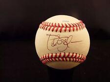 Billy Hatcher & Pete Schourek Signed Autographed Leather Baseball Ball