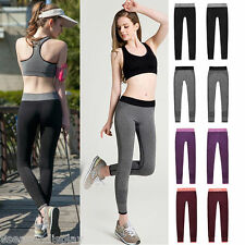 Women Running Sport Pants Yoga Elastic Workout Fitness Outdoor Trousers Leggings