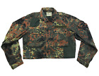 VTG 90's German Military Flecktarn Camo Patchwork Cropped Repaired Field Jacket