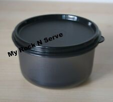 TUPPERWARE Multi-purpose Dip Serving Center Bowl 14 oz Black New