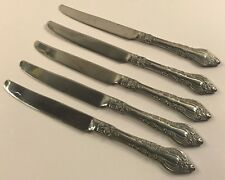 5 French Solid Knives Reed & Barton Majesty Stainless Floral Glossy 217858