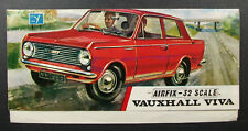 Airfix 32 Scale VAUXHALL VIVA; INSTRUCTIONS ONLY for Bagged Model Kit
