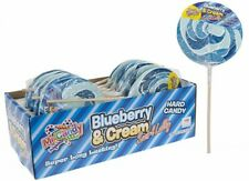 Blueberry Swirl Candy Lolly - Box of 12 - Free Delivery