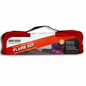 Orion Safety Emergency 30 Minute Road Flare Kit w/ Safety Vest 6030