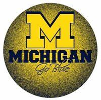 "Michigan ""Go Blue"" ""M"" Monogram Circle Magnet Type Michigan Wolverines"