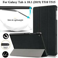 For Samsung Galaxy Tab A 10.1 T510 T515 (2019) Magnetic Flip Case Trifold Cover