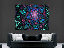 TRIPPY POSTER PSYCHEDELIC FRACTAL PICTURE GIANT WALL ART HUGE GIANT