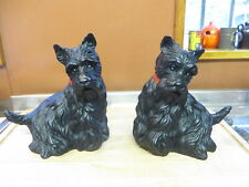 More details for vintage pair of scottish terrier figurines