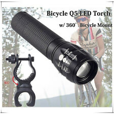 New Bike Bicycle Q5 GREE LED Front Light Torch Lamp Flashlight Head Cyc