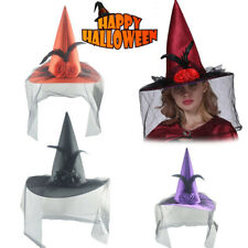 Women's Large Ruched Witch Hat Accessory Holiday Halloween Party Special Design