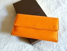 Louis Vuitton Three Fold Mandarin International Epi Wallet