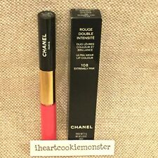 CHANEL ROUGE DOUBLE INTENSITE Duo Lip Colour Gloss BNIB #108 EXTREMELY PINK