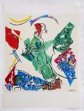 Vintage Marc Chagall Lithograph in Colors, Sorlier for Derriere Le Miroir  1964