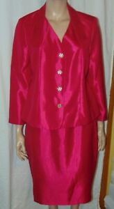 Size 18 Kasper Woman Berry/Pink 2pc Skirt Suit