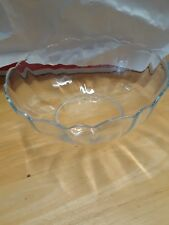 "ARCOROC ARCADE BENGALE CLEAR GLASS 5"" NAPPY BOWL"