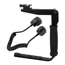 Flash Bracket + Off Camera Shoe Cord for Nikon D7000 D90 D300 D300S D700 D3S D3X