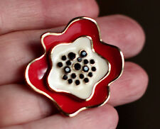 "KATE SPADE SPECIAL RED ""POPPY FIELDS"" HUGE STATEMENT COCKTAIL RING WEDDING 6"
