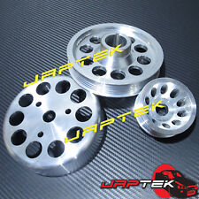Ultra Lightweight Pulley Set For Honda S2000 00-08 2.0L 2.2L AP1 AP2 F20C F22C