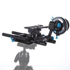 FOTGA QR DP500IIS DSLR Follow Focus A/B Hard Stops+15mm Rod Baseplate Rig 5D3