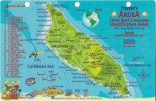 Aruba Dive Map & Coral Reef Creatures Guide Laminated Fish Card by Franko Maps