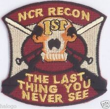 1ST RECON NCR BERET PATCH - GAME57