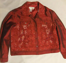 NWOT COLDWATER CREEK WOMENS SILK BLEND DRESS JACKET! SZ PET-MED-EMBELLISHMENTS