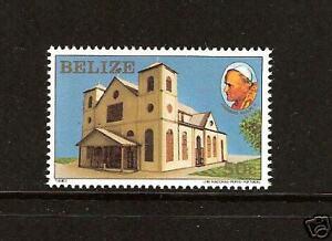 BELIZE # 666 MNH Pope John Paul II Visit
