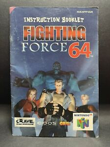 N64 Nintendo 64 Instruction Booklet - Fighting Force 64 Game Manual [Genuine]