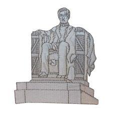 ID 1891 Lincoln Memorial Washington DC Travel Souvenir Iron On Applique Patch