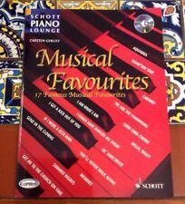 Schott Piano Lounge Musical Favorites Carsten Gerlitz 17 Famous Songs With CD