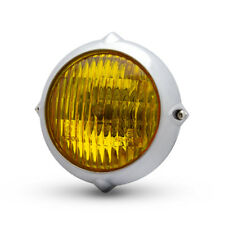 """5.5"""" Faro Para Harley Davidson Retro Proyecto Personalizado Pulido y amarillo cristalino"""