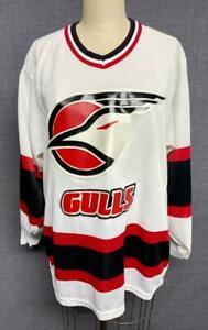 Vintage San Diego Gulls CCM Maska White Hockey Jersey Adult Small Made in USA