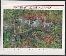 Scott 3899 Pane of 10 FDC - Northeast Deciduous Forest