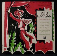 ABU HASSAN-Comic Opera In One Act Album-URANIA #URLP 7029 mono-Siegmund Forst