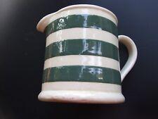 ANTIQUE BAKEWELLS  AUSTRALIAN POTTERY  GREEN STRIPED LARGE  JUG 1920's