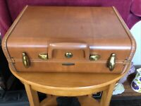 "Vintage SAMSONITE Shwayder Bros 1950's Brown 15"" Suitcase Luggage Style 4615 EUC"