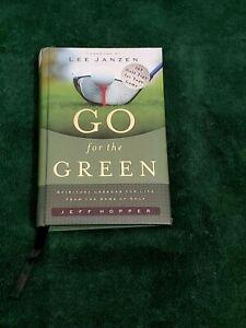 Golf Tips Book Lee Janzen Go For The Green Spiritual Christian Messages