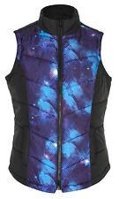 Crossroads cosmic blue PUFFER cardi cardigan Jumper zip VEST 20 lined + pockets