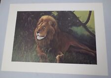 """Vtg Gary Crouch Lithograph Limited Edition """"Lion"""" Signed COA"""